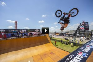 Austin, TX - June 4, 2015 - Circuit of The Americas: Vince Byron during practice for BMX Vert at X Games Austin 2015 (Photo by Tomas Zuccareno / ESPN Images)
